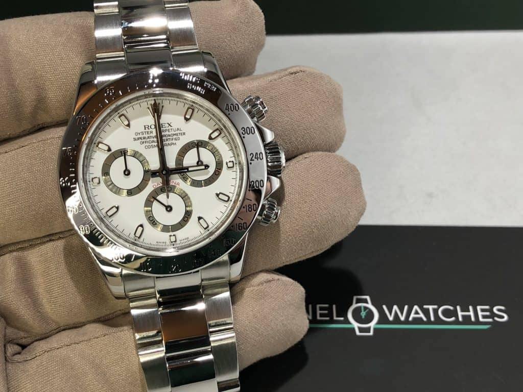 Rolex Daytona steel White Face Now Sold
