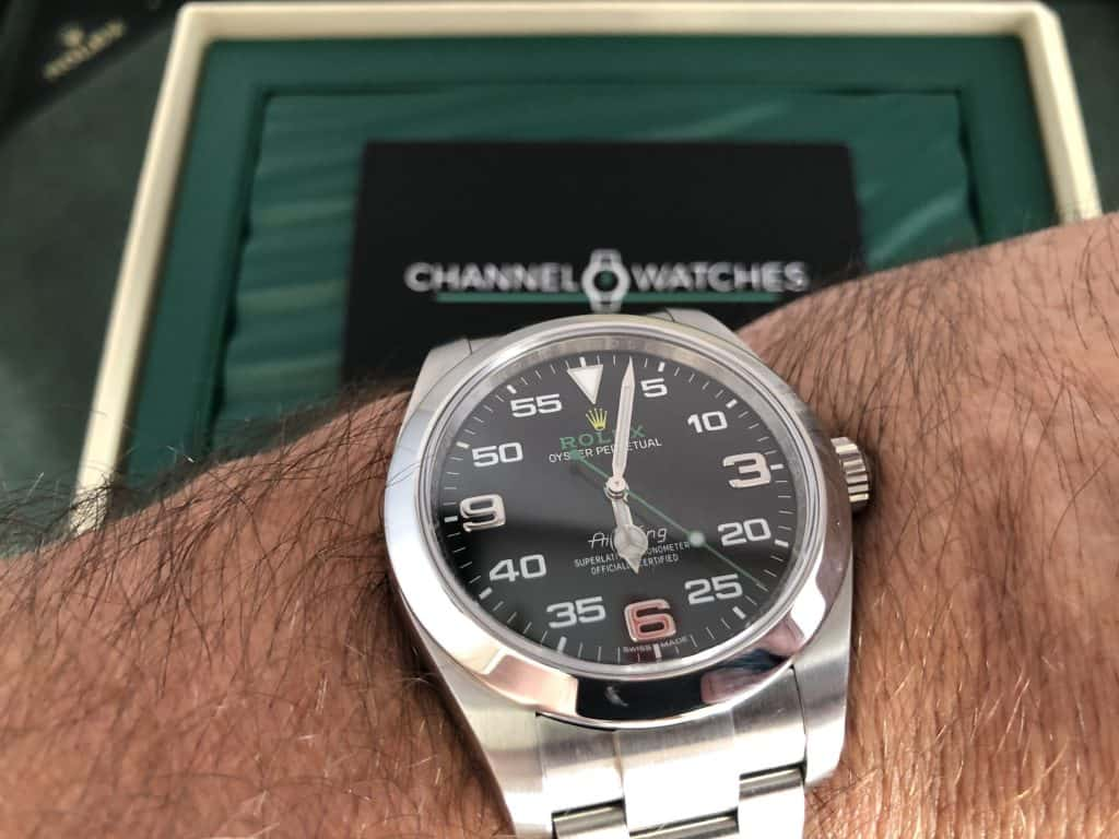 """Rolex Airking """"Bloodhound"""" pre owned"""