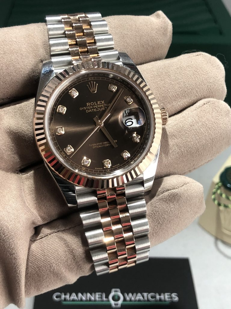 Rolex DateJust 41mm Everose Chocolate face